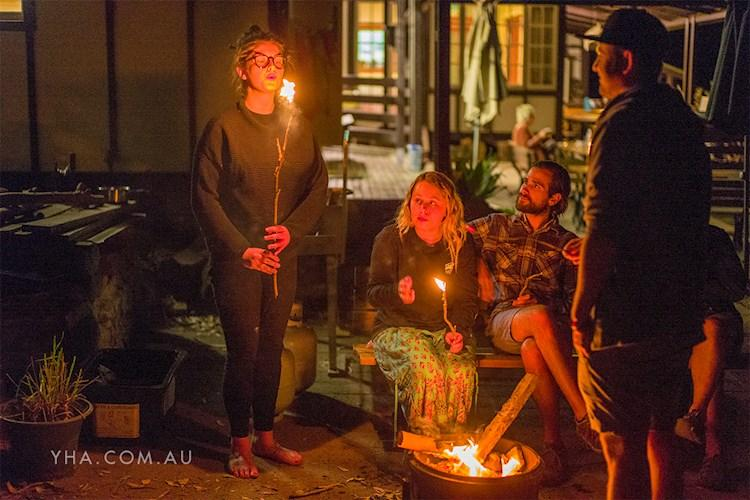 Evenings by the Fire at Pittwater YHA